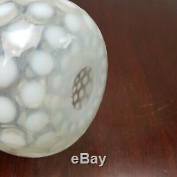 Antique FENTON Dot Optic French Opalescent BARBER BOTTLE hand blown stretch