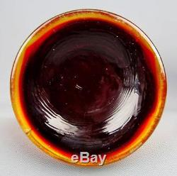 CARNIVAL GLASS FENTON FINE RIB RED 10¼ Swung Vase RED