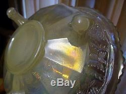 CARNIVAL GLASS FENTON White BUTTERFLY & BERRY Antique Master Berry Bowl