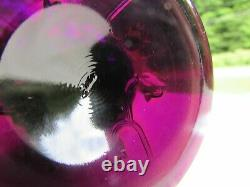 FENTON Amethyst Carnival Glass Lily of the Valley SWUNG VASE 10 H 1970's