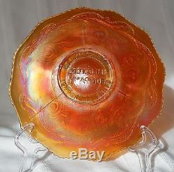 FENTON CARNIVAL GLASS JN LEDFORD CO COOLEEMEE NC PLATE EXTREMELY RARE