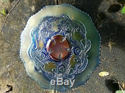 Fenton Heart & Vine Carnival Glass Variant Plate No Others Reported Odd Color