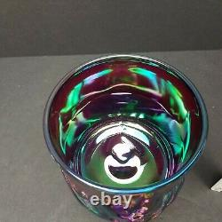 FENTON Red Carnival Iridescent 1990 Chessie Cat CANDY JAR