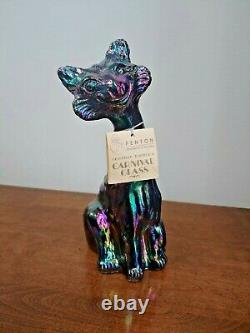 Fenton Amethyst Carnival Glass Alley Cat Stunning Colors
