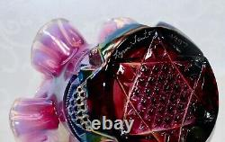Fenton, Basket, Plum Carnival Opalescent Glass, Limited Edition