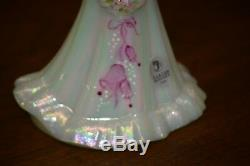 Fenton Bridesmaid Doll #26/50 White Carnival Satin HP Wedding Bell Pink Rosso