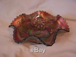 Fenton Carnival Glass Limited Edition Central Shoe Store Advertising Bowl