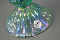 Fenton Daisy & Button Iridescent Carnival Glass Candle Stick Candle Holders