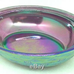Fenton EASTER BUNNY on Carnival Glass Nest Hand Painted Artist Signed Label Eggs