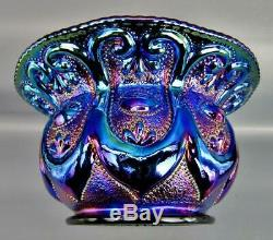 Fenton FARMYARD / Jeweled Heart Fabulous Black Carnival Glass 7 Cuspidor 6626