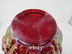 Fenton VASE JIP JACK IN THE PULPIT Poppy Show RUBY RED CARNIVAL F Mark