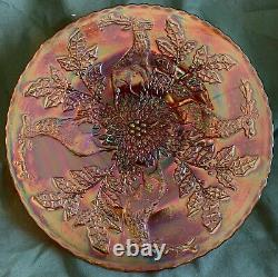 Gorgeous Pumpkin Stag & Holly 9 Invh Plate