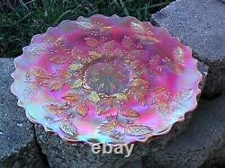 Marigold Carnival Holly 9 Plate Fenton 1911 Hard To Find-e