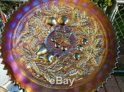 Northwood STIPPLED 9 THREE FRUITS PLATE IN Amethyst