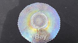 Persian Medallion Plate White! Antique Fenton Carnival Glass! Hard to find