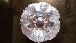Rare Color Awesome Fenton Opalized Glass Carnival Rose Bowl