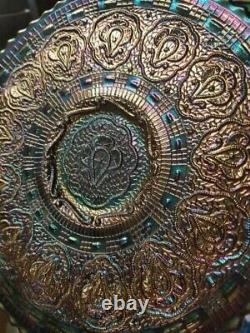 Rare Vintage Fenton Red Carnival Glass Persian Medallion High Iridescent Plate