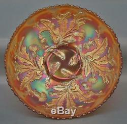 THISTLE Fenton Marigold Carnival Glass 8 Bowl with Wide Panel Exterior 5219