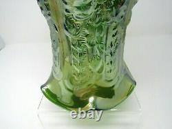 Vintage Imperial Large POPPY SHOW Vase Iridescent Carnival Helios Green