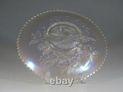Vintage Northwood Glass White Carnival Peacocks on the Fench Plate c. 1915