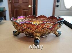 WOW Fenton Lavender Carnival Glass Thistle Banana Boat Waterlily & Cattails Ex